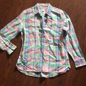 Southern Tide pastel plaid long sleeve shirt